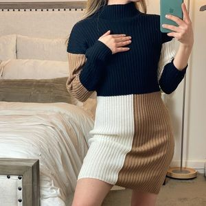 Shein Colorblock Sweater Dress